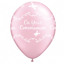 Communion Butterflies (Pink) - 11 Inch Balloons 25pcs